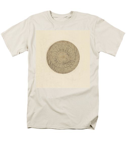 Study Of Water Wheel From Atlantic Codex Men's T-Shirt  (Regular Fit) by Leonardo Da Vinci