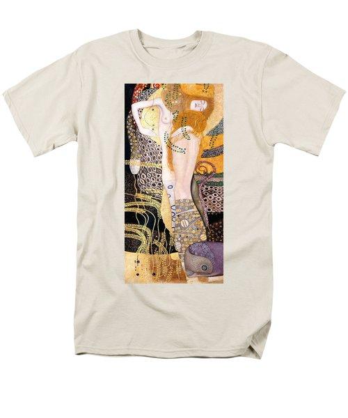 Water Serpents I Men's T-Shirt  (Regular Fit) by Gustav Klimt