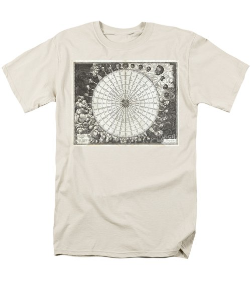 1650 Jansson Wind Rose Anemographic Chart Or Map Of The Winds Men's T-Shirt  (Regular Fit) by Paul Fearn