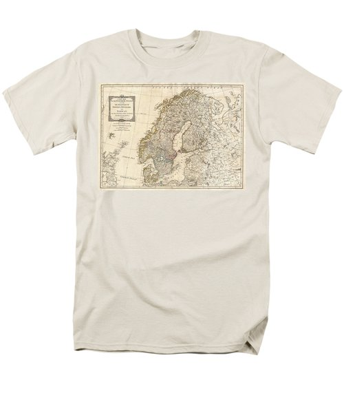 1794 Laurie And Whittle Map Of Norway Sweden Denmark And Finland Men's T-Shirt  (Regular Fit) by Paul Fearn