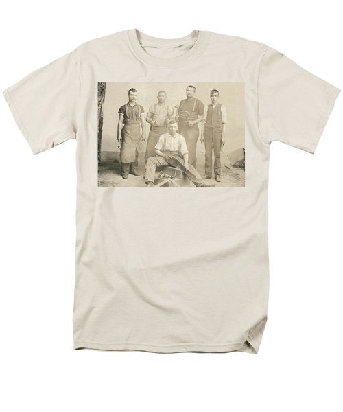 1800's Vintage Photo Of Blacksmiths Men's T-Shirt  (Regular Fit) by Charles Beeler