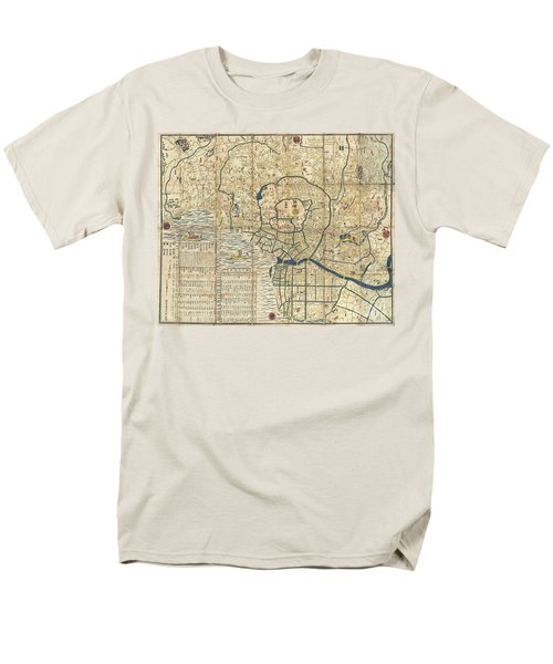 1849 Japanese Map Of Edo Or Tokyo Men's T-Shirt  (Regular Fit) by Paul Fearn