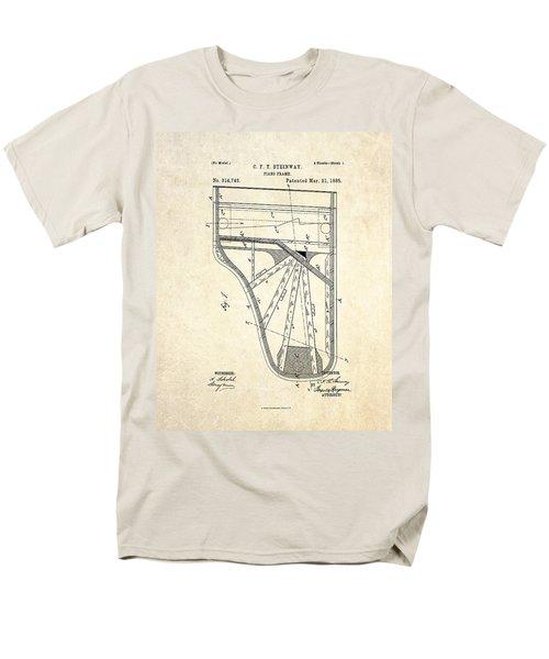1885 Steinway Piano Frame Patent Art Men's T-Shirt  (Regular Fit) by Gary Bodnar