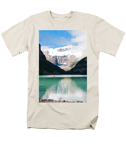 Men's T-Shirt  (Regular Fit) featuring the photograph Beautiful Lake Louise by Cheryl Baxter
