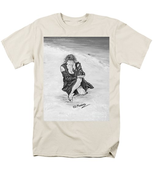Men's T-Shirt  (Regular Fit) featuring the painting Disperazione by Loredana Messina