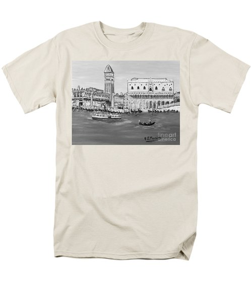 Men's T-Shirt  (Regular Fit) featuring the painting Laguna by Loredana Messina