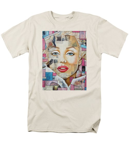 Marilyn In Pink And Blue Men's T-Shirt  (Regular Fit) by Joseph Sonday