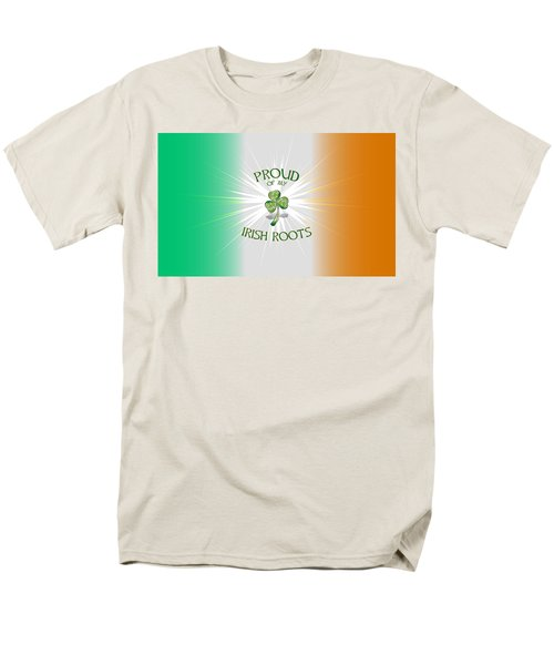 Proud Of My Irish Roots Men's T-Shirt  (Regular Fit)