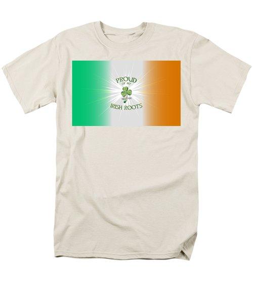 Proud Of My Irish Roots Men's T-Shirt  (Regular Fit) by Ireland Calling