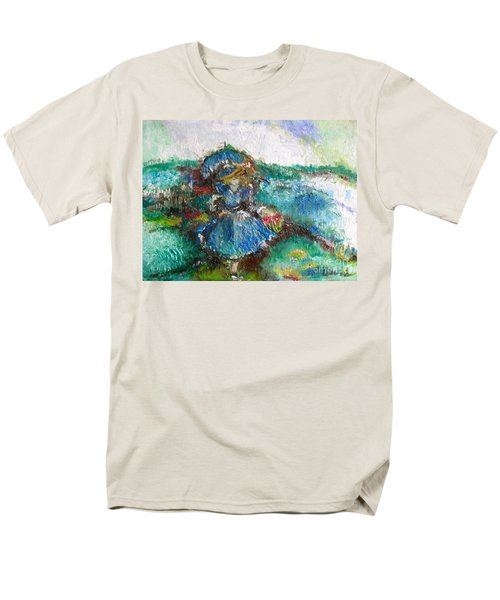 Men's T-Shirt  (Regular Fit) featuring the painting Roses For My Mother by Laurie L