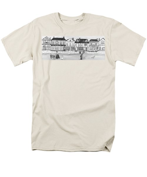 Men's T-Shirt  (Regular Fit) featuring the painting Villaggio Antico by Loredana Messina