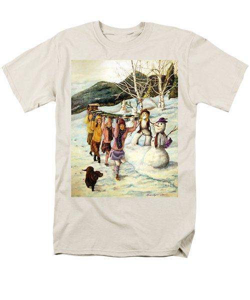 Frosty Frolic Men's T-Shirt  (Regular Fit) by Linda Simon