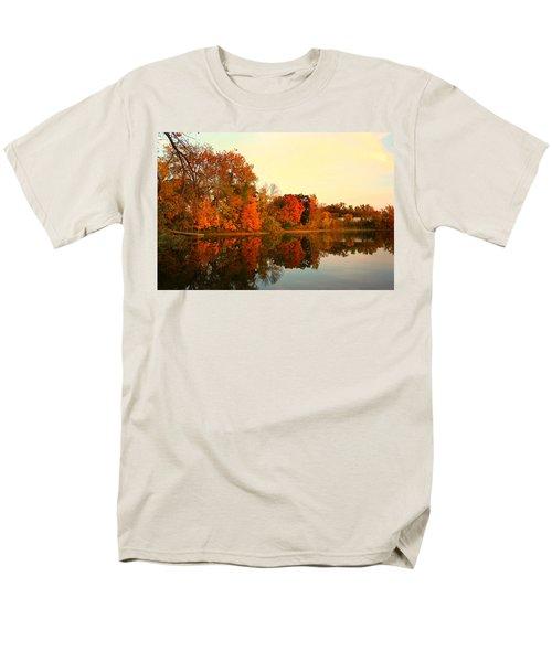 Shady Oak Lake  Men's T-Shirt  (Regular Fit) by Amanda Stadther
