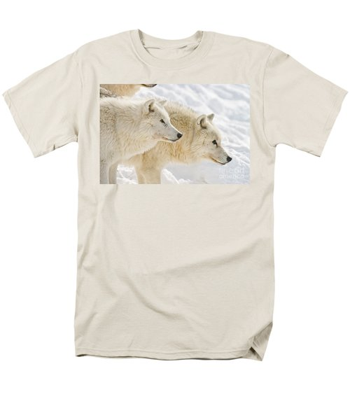 Arctic Wolves Men's T-Shirt  (Regular Fit) by Michael Cummings