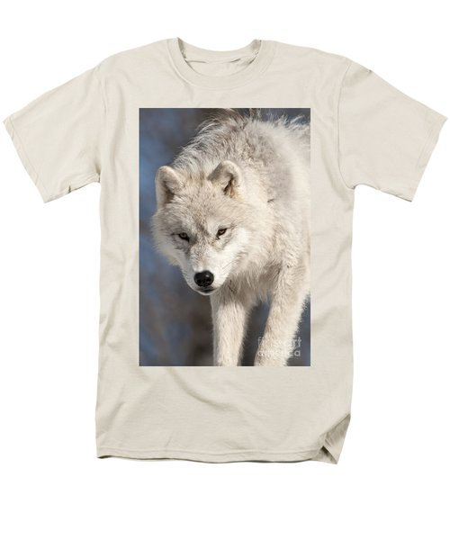 Arctic Wolf Pup Men's T-Shirt  (Regular Fit) by Wolves Only