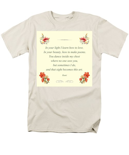 60- Rumi Men's T-Shirt  (Regular Fit) by Joseph Keane
