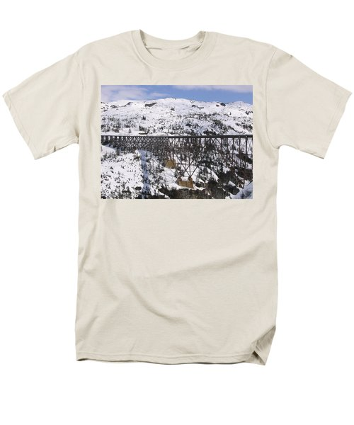 A Bridge In Alaska Men's T-Shirt  (Regular Fit) by Brian Williamson