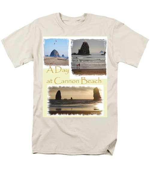 A Day On Cannon Beach Men's T-Shirt  (Regular Fit) by Sharon Elliott