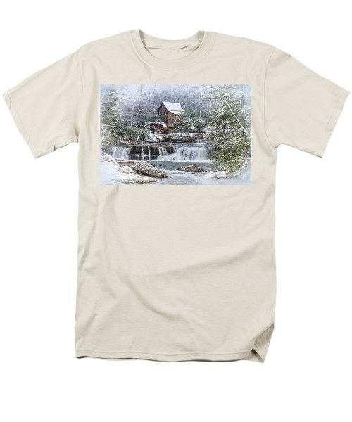 A Gristmill Christmas Men's T-Shirt  (Regular Fit) by Mary Almond