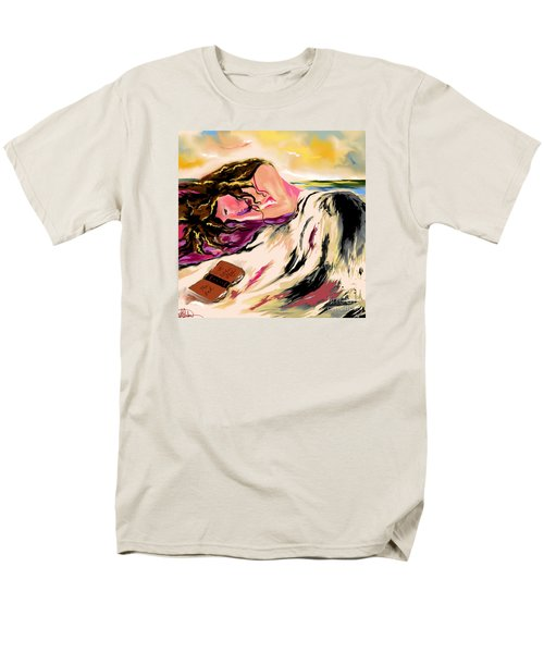 Men's T-Shirt  (Regular Fit) featuring the drawing A Love Story  by Lori  Lovetere
