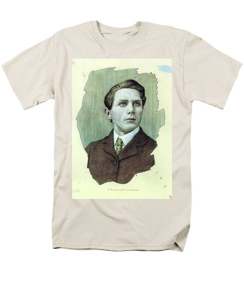 Men's T-Shirt  (Regular Fit) featuring the painting A Man Who Used To Be A Dreamer by James W Johnson