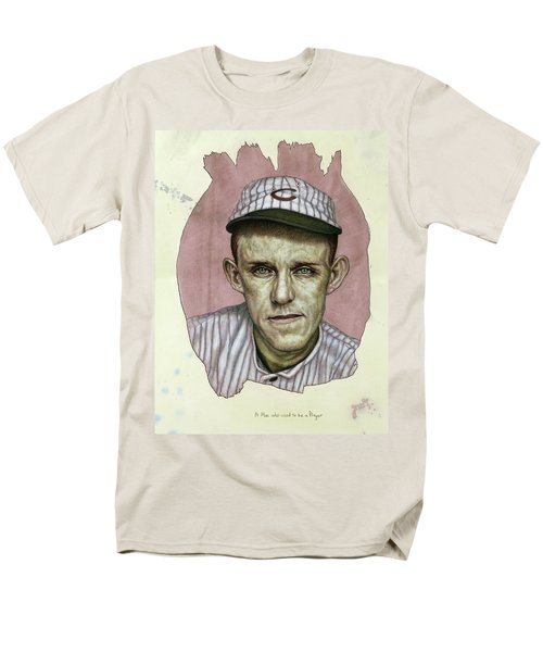 Men's T-Shirt  (Regular Fit) featuring the painting A Man Who Used To Be A Player by James W Johnson