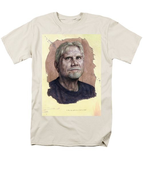 Men's T-Shirt  (Regular Fit) featuring the painting A Man Who Used To Be A Serious Artist by James W Johnson
