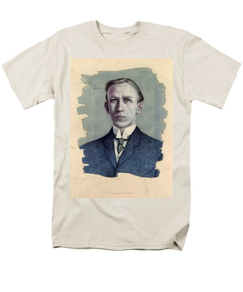 Men's T-Shirt  (Regular Fit) featuring the painting A Man Who Used To Be Somebody To Someone by James W Johnson