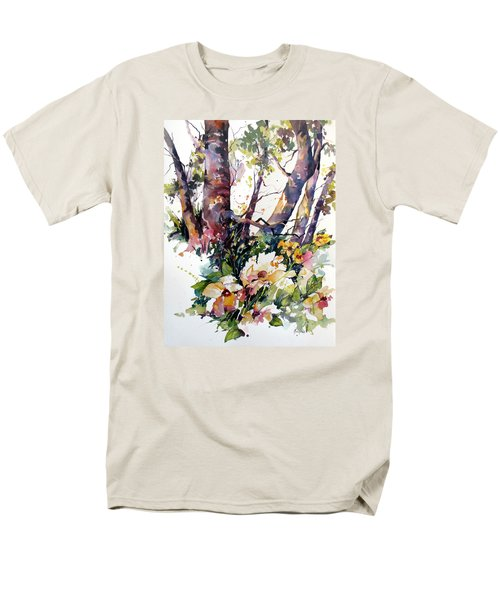 Men's T-Shirt  (Regular Fit) featuring the painting A Quiet Place by Rae Andrews
