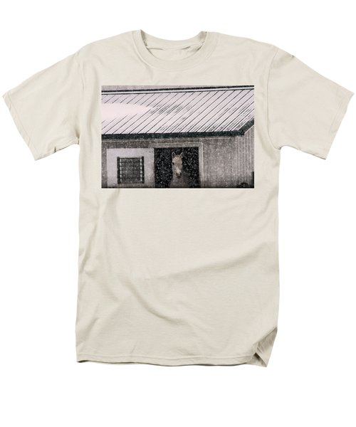 A Snowfall At The Stable Men's T-Shirt  (Regular Fit)