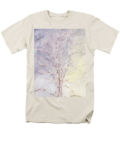 A Tree In Winter Men's T-Shirt  (Regular Fit) by Vickie G Buccini