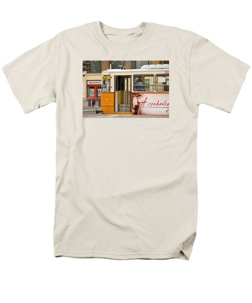 A Yellow Tram On The Streets Of Budapest Hungary Men's T-Shirt  (Regular Fit) by Imran Ahmed