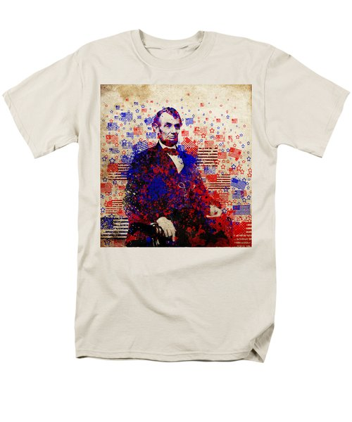 Abraham Lincoln With Flags Men's T-Shirt  (Regular Fit) by Bekim Art