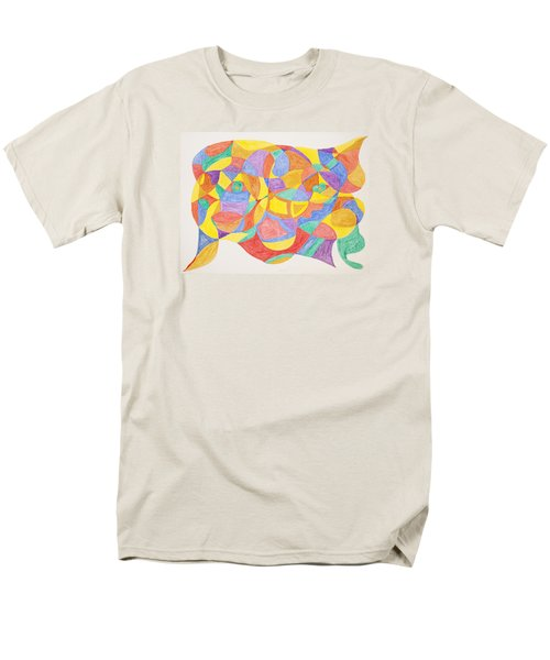 Men's T-Shirt  (Regular Fit) featuring the painting Faces And Places by Stormm Bradshaw