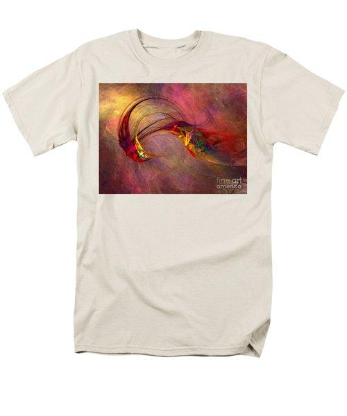 Abstract Art Print Hummingbird Men's T-Shirt  (Regular Fit) by Karin Kuhlmann