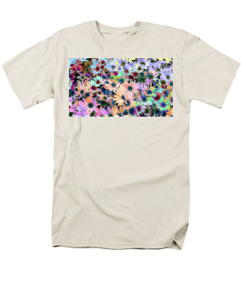 Abstract Colored Flowers Men's T-Shirt  (Regular Fit) by Susan Stone