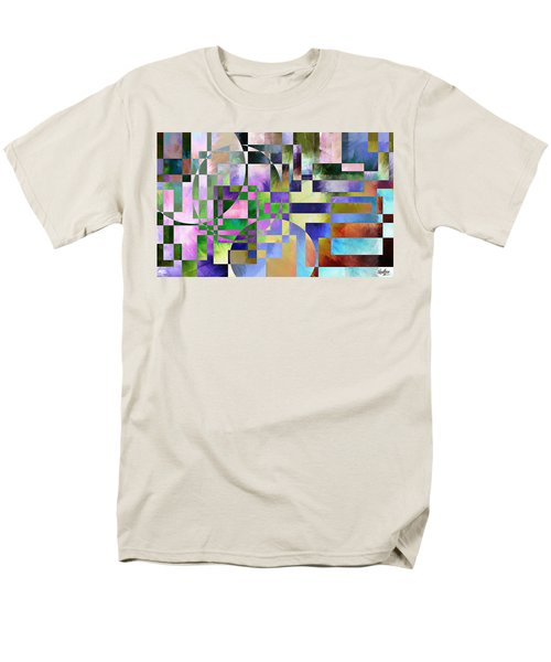 Men's T-Shirt  (Regular Fit) featuring the painting Abstract In Lavender by Curtiss Shaffer