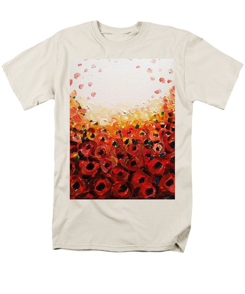 Abstract Poppies 2 Men's T-Shirt  (Regular Fit) by Hae Kim