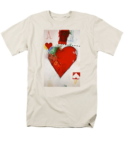 Ace Of Hearts 8-52 Men's T-Shirt  (Regular Fit) by Cliff Spohn