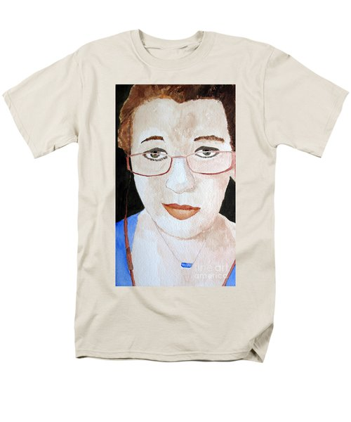 Men's T-Shirt  (Regular Fit) featuring the painting Addie Two by Sandy McIntire