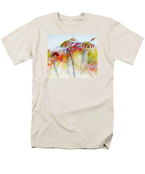 Men's T-Shirt  (Regular Fit) featuring the painting African Daisy Abstract by Lisa Kaiser
