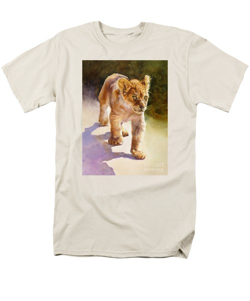 African Lion Cub Men's T-Shirt  (Regular Fit) by Bonnie Rinier