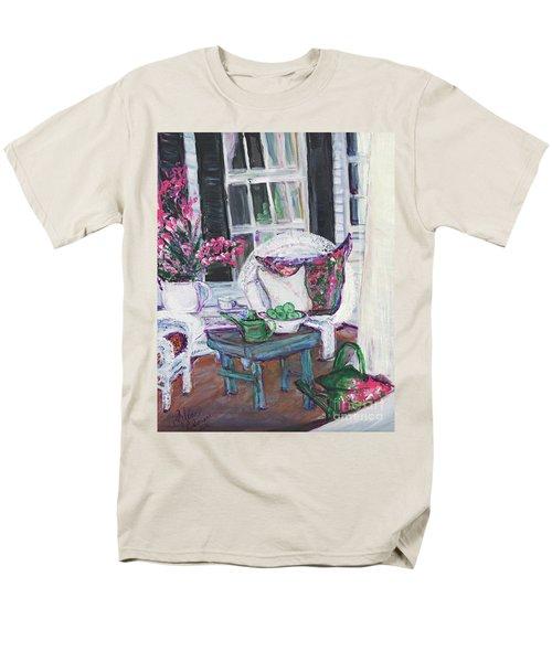 Afternoon At Emmaline's Front Porch Men's T-Shirt  (Regular Fit) by Helena Bebirian