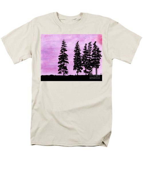 Men's T-Shirt  (Regular Fit) featuring the drawing Colorful - Alaska - Sunset by D Hackett