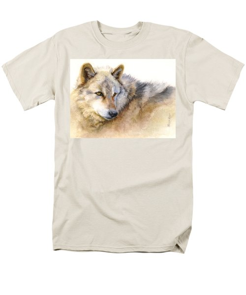 Alaskan Gray Wolf Men's T-Shirt  (Regular Fit) by Bonnie Rinier