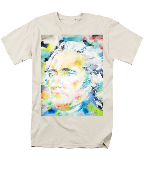 Alexander Hamilton - Watercolor Portrait Men's T-Shirt  (Regular Fit) by Fabrizio Cassetta