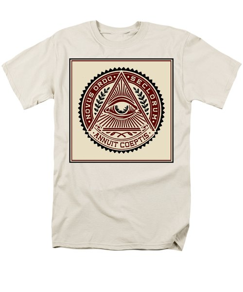 Men's T-Shirt  (Regular Fit) featuring the digital art All Seeing Eye by Vagabond Folk Art - Virginia Vivier