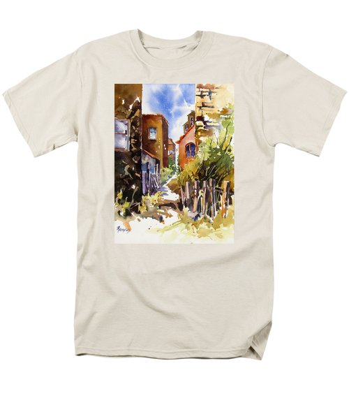 Men's T-Shirt  (Regular Fit) featuring the painting Alleyway Charm 2 by Rae Andrews