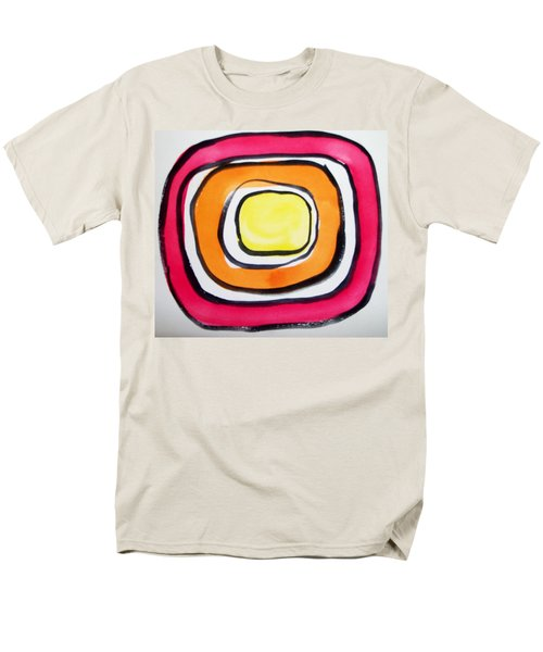 Men's T-Shirt  (Regular Fit) featuring the painting Almost Circles by Erika Chamberlin