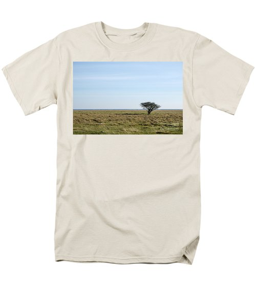 Alone Tree At A Coastal Grassland Men's T-Shirt  (Regular Fit) by Kennerth and Birgitta Kullman